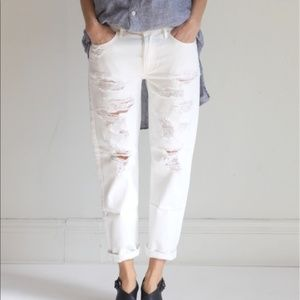 Mother Jeans The Loosey White Party Crashers SZ 24